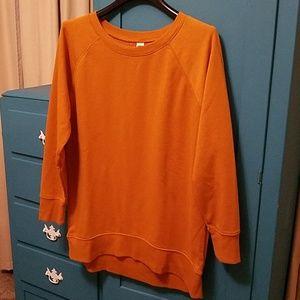 Old Navy mustard tunic sweatshirt